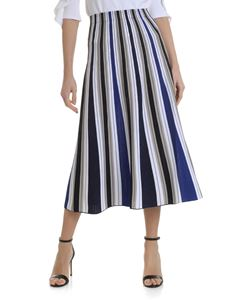 D.Exterior - Flared skirt with striped pattern