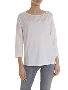 Lamberto Losani - White sweater with silk insert