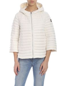 Colmar - Punk down jacket in white with hood