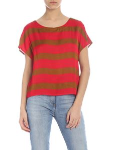 Manila Grace - Brown and red striped blouse