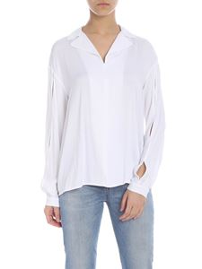 Manila Grace - White blouse with cut-out