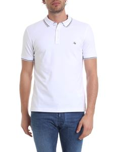 Fay - Polo in white pique cotton