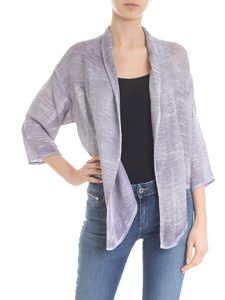 Avant Toi - Pierced cardigan in lavender-colored