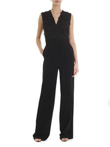 D.Exterior - Black jumpsuit embroidered
