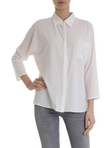 Lamberto Losani - Ivory cotton and silk shirt