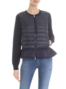 Moncler - Blue down jacket cardigan