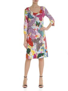 Ultràchic - White dress with multicolor butterflies print