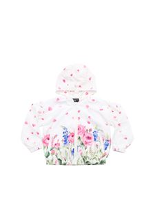 Monnalisa - White jacket with floral print