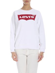Levi's - White sweatshirt with Levi's logo print