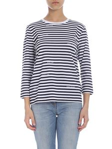 Tommy Hilfiger - Striped T-shirt in blue and white with logo
