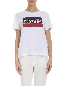 Levi's - White T-shirt with Levi's logo print