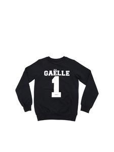 Gaelle Paris - Black sweatshirt with Gaelle 1 print