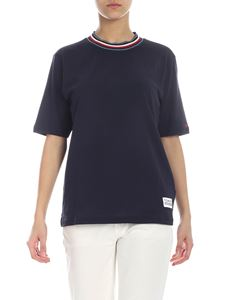 Tommy Hilfiger - Blue T-shirt with multicolor crew neck