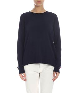 Tommy Hilfiger - Blue pullover with multicolor details