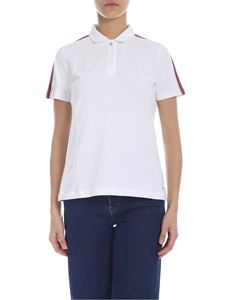 Tommy Hilfiger - Piqué polo in white stretch cotton