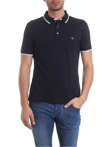 Fay - Polo in blue pure pique cotton