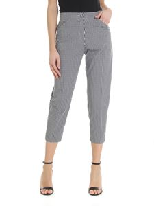 True Royal - Sabrina trousers with black and white checks