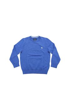 POLO Ralph Lauren - Indigo sweater with logo embroidery