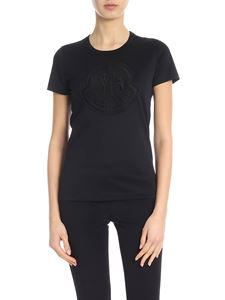 Moncler - Black t-shirt with logo