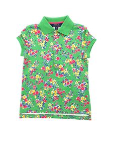 POLO Ralph Lauren - Green polo shirt with floral print