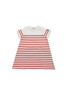 Moncler Jr - Cream and red striped dress