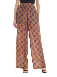 MM6 by Maison Martin Margiela - Camel trousers with floral motif