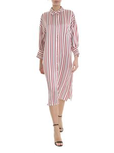 Anine Bing - White Milly dress with red and black stripes