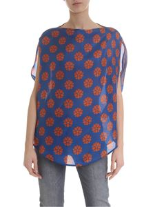 MM6 by Maison Martin Margiela - Blue blouse with floral pattern