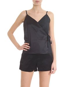 Andrea Ya'aqov - Black silk and cotton poplin top