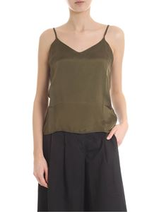 Andrea Ya'aqov - Olive green V-neck top
