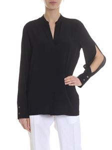 Covert - Black shirt with cut-out sleeves