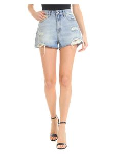 Rag & Bone - Light blue denim Maya shorts