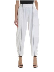 Adidas by Stella McCartney - White cropped zip trousers