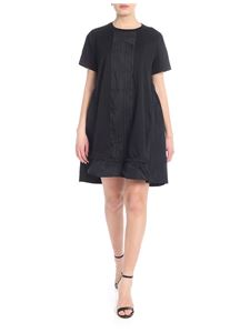 Moncler - Black dress with pleats on the front