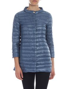 Herno - Down jacket in light blue with logo detail