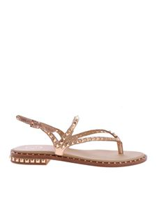 Ash - Peps thong sandals in laminated pink color