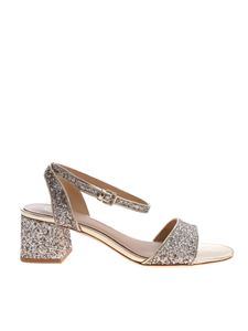 Ash - Gold-colored sandals with glitter