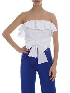 Pinko Uniqueness - White Lap Dance off-shoulder top