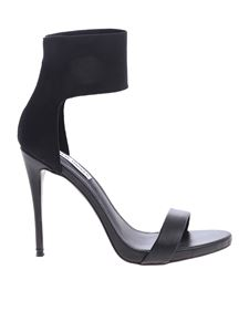 Steve Madden - Marcey sandals in black leather and fabric