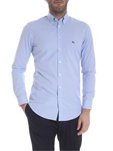 Etro - Button-down shirt in light blue and white