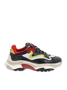 Ash - Atomic sneakers in black, red and white
