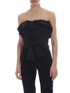 Pinko Uniqueness - Black Lap Dance off-shoulder top