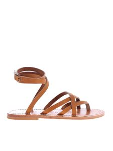 K. Jacques - Zenobie sandals in brown leather