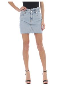 Pinko Jeans - Light blue Lily Rouches 5 skirt