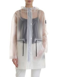 Moose Knuckles - Transparent overcoat with drawstring and hood
