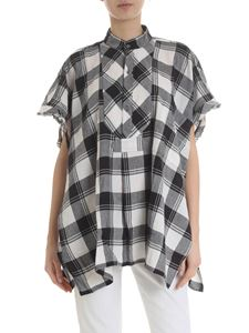 Faith Connexion - Boxy blouse with check pattern black and white