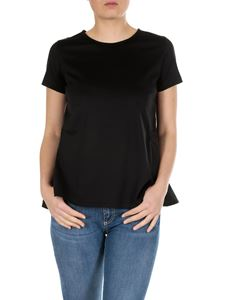 Moncler - Flared t-shirt in black with logo