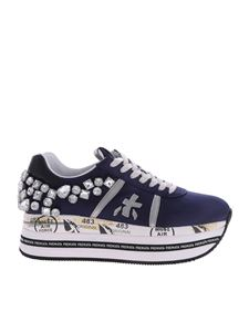 Premiata - Beth sneakers with rhinestones in blue