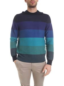 Paul Smith - Pullover a righe sui toni del blu
