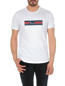 Moncler - White T-shirt with Moncler print